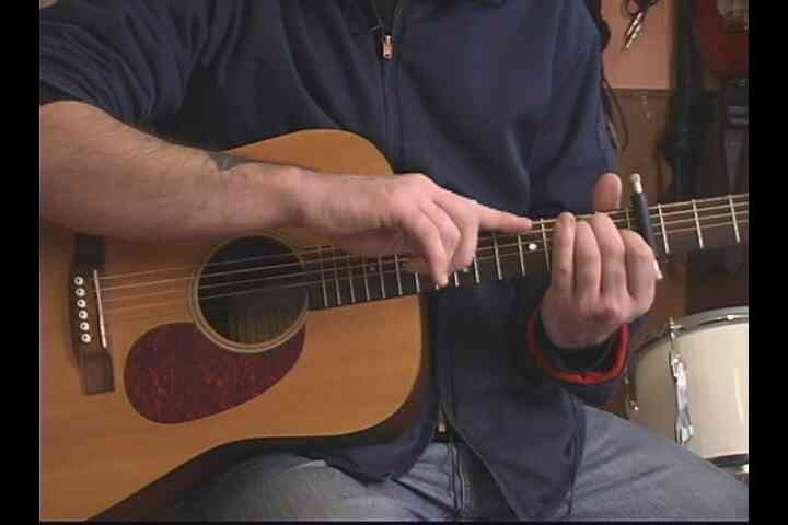 """Comment Jouer de la Deuxième Moitié de """"je Vais Vous Suivre dans Le noir"""" à la Guitare"""