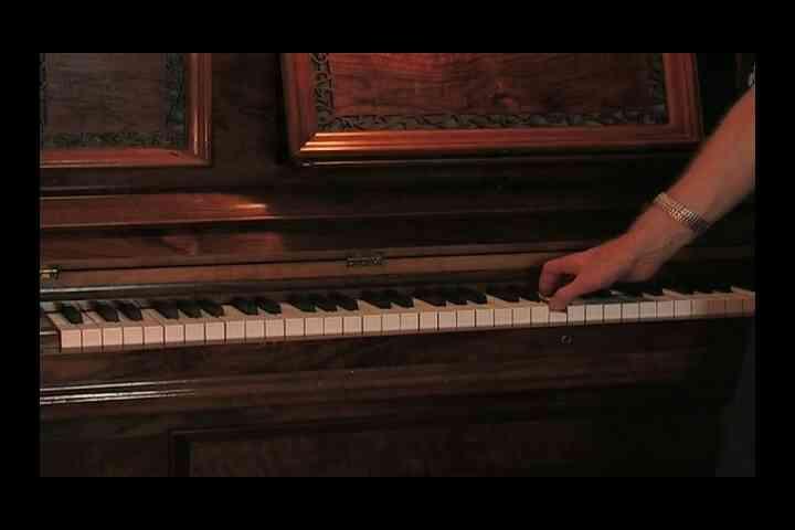 La Clef de fa & Clé de sol sur le Piano