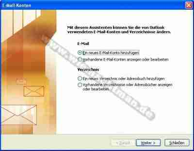 Configurer la Messagerie électronique dans Outlook