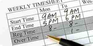 Calculer les heures de travail et heures supplémentaires