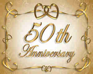 Jetez un 50e anniversaire de mariage de partie