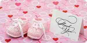 Écrire douche de bébé cartes de remerciement
