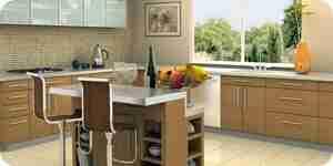 Choisir de nouvelles armoires de cuisine: parquet stratifié, le bois et le métal armoires