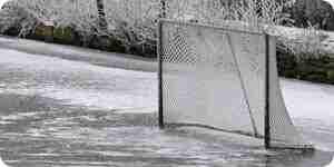 Construire une patinoire de hockey