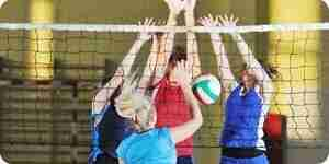 La pratique de volley-ball exercices